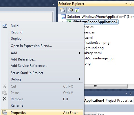 Changing the Icon of a Windows Phone 7 Application in Visual Studio 2010