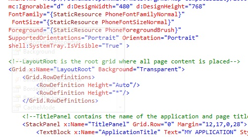 How to view the XAML Code on the Intellisense popup in Visual Studio 2010 ?