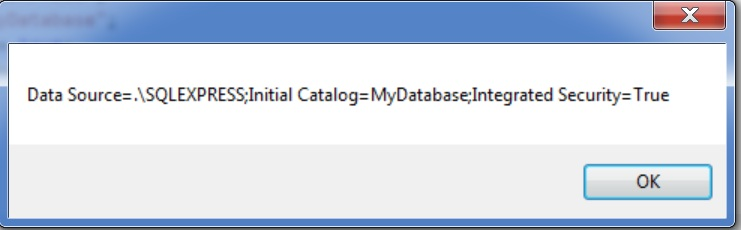 Creating ConnectionString with SqlConnectionStringBuilder Class in C#