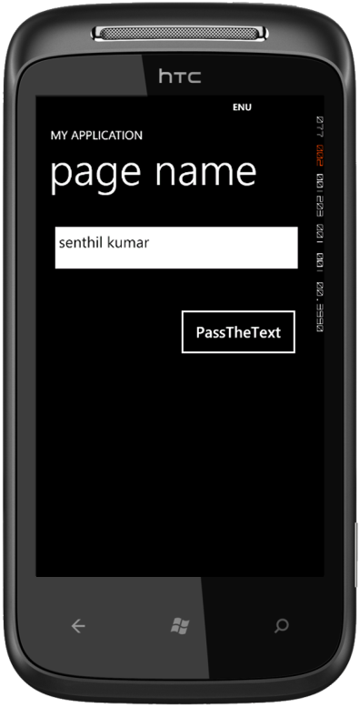 How to Pass data between Pages in Windows Phone ?