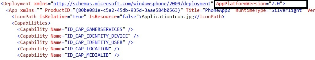 How to convert the Windows Phone App from 7.1 to 7.0 ?