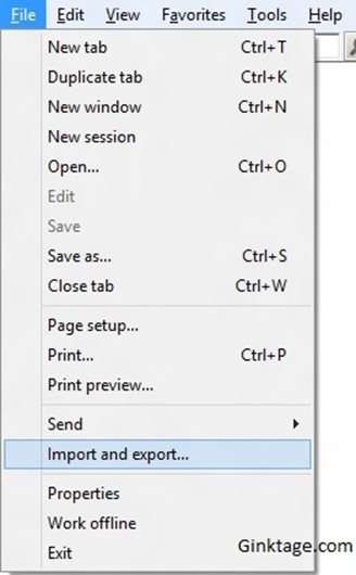 How to Import Bookmarks / Favourites folder to the Internet Explorer 10?