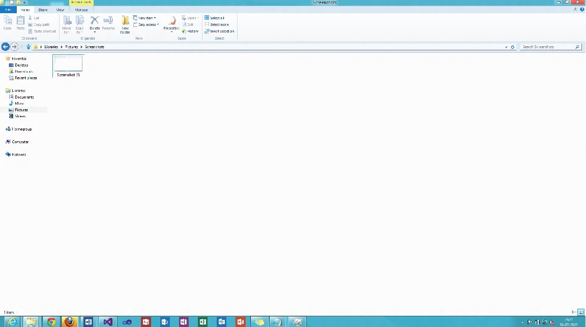 How to capture screenshots in Windows 8 Release Preview ?