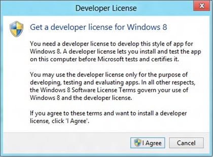 How to get a Developer License to run Windows 8 Modern UI style apps?