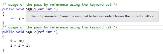 Difference between the out and ref keyword in C#