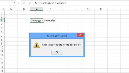 Spell Check Feature in Microsoft Excel 2013