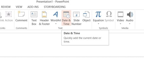How to Insert Date and Time in Microsoft PowerPoint 2013 Presentation?