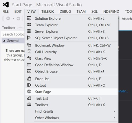 Visual Studio 2012 Tips and Tricks - Hide Start Page on Startup