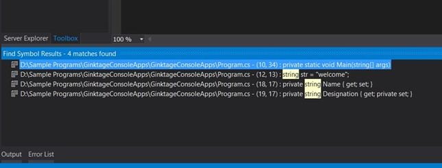 Visual Studio 2012 Tips and Tricks - Search for Selected Text without Using Find Window