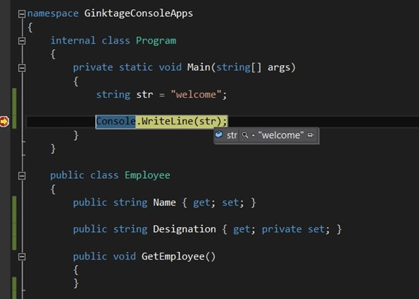 Visual Studio 2012 Tips and Tricks - DataTip & Comments