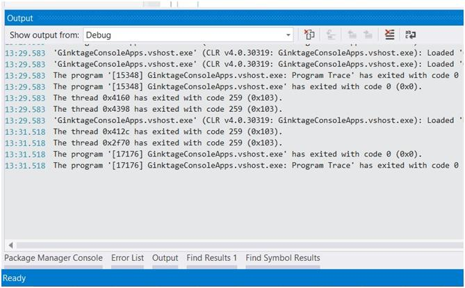 Visual Studio 2013 Tips and Tricks - TimeStamp in Debug Window with Productivity Power Tool 2013