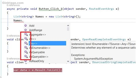How to Identify Extension Methods in Visual Studio Intellisense ?