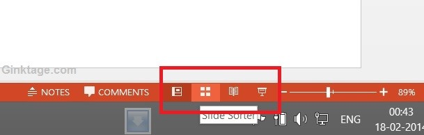 How to Quickly Change the Presentation Views in Microsoft PowerPoint 2013?