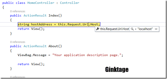 How to Get the Host Name of the Current URL in ASP.NET MVC ?