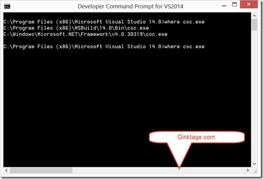 How to Find the Path to the C# Compiler in Visual Studio Command Prompt ?