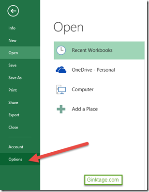 Setting to automatically moving the cell pointer in Microsoft Excel 2013