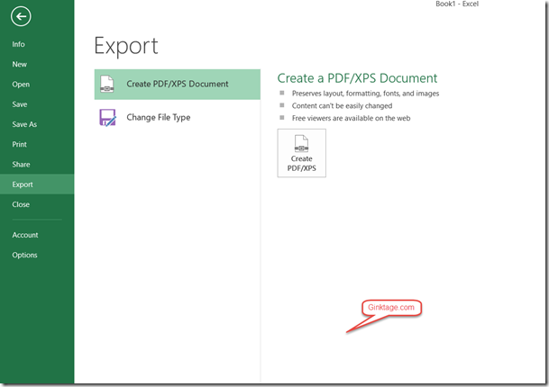 How to export Excel sheet to PDF format in Excel 2013 ?