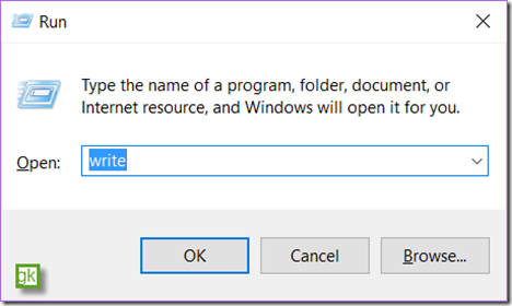 Open Wordpad from command line in Windows